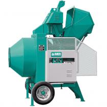   Betoniera semi-automata BIR 400, motor diesel Hatz, 10.2 cp, capacitate 400 l, productie beton 8m³/h   