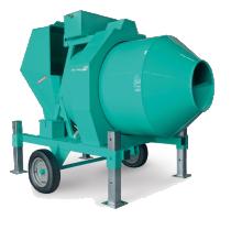   Betoniera semi-automata BIR 1000, motor diesel Hatz, 34.5 cp, capacitate 1000 l, productie beton 18 m³/h  