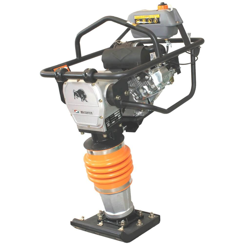 Вибротрамбовка бензиновая MC80-L, 10.7 kN, двигатель Loncin, 79 кг, BISONTE