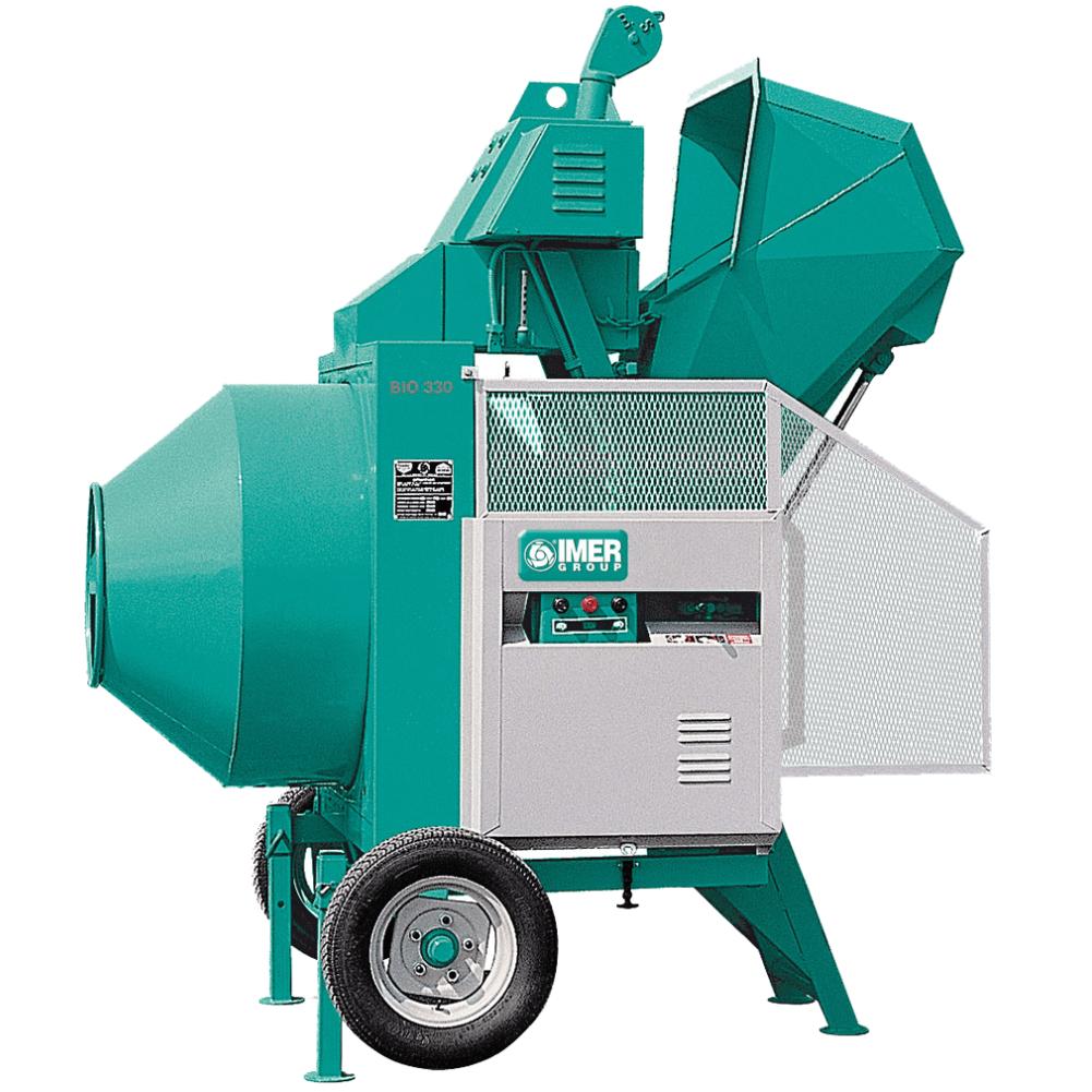 | Betoniera semi-automata BIR 330, motor diesel Kohler, 7.5 cp, capacitate 330 l, productie beton 6.5m³/h |