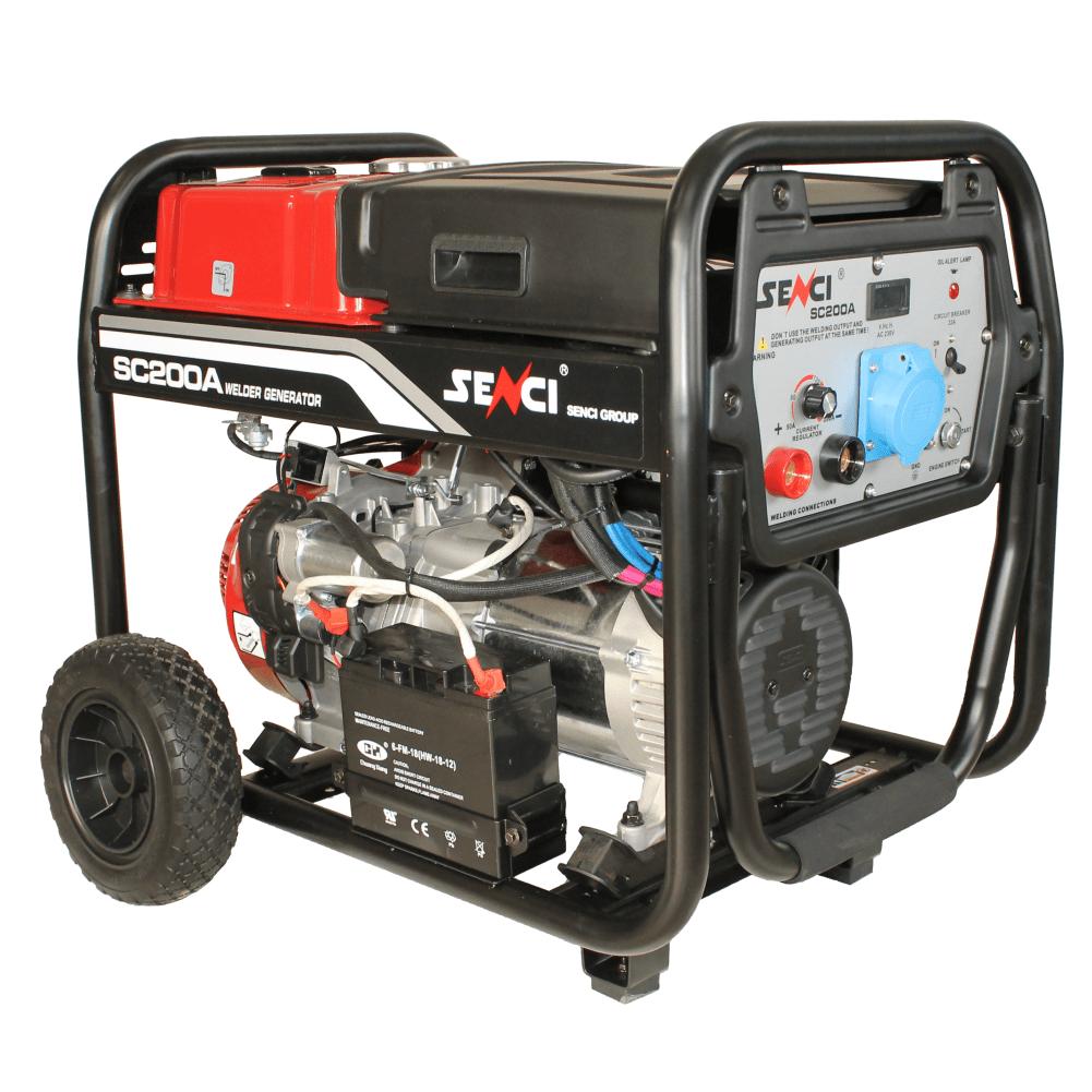 Генератор тока SK-200А, Макс. 5,5 кВт, 230 В, AVR, бензиновый двигатель