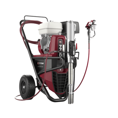 PowrBeast 7700G Pompa airless cu imersie directa, motor benzina Honda
