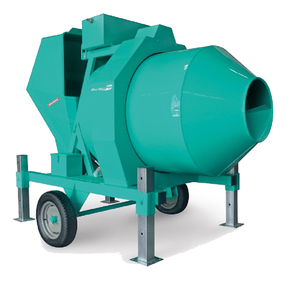 | Betoniera semi-automata BIR 750, motor 400V, 5.6 kW, capacitate 750 l, productie beton 18m³/h |