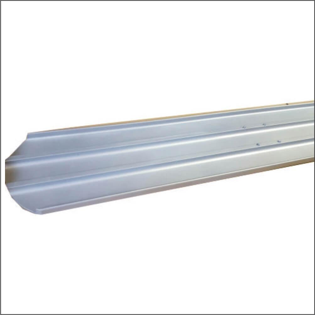 Aluminiu extrudat capete rotunjite Lungime rigla 1.83 m