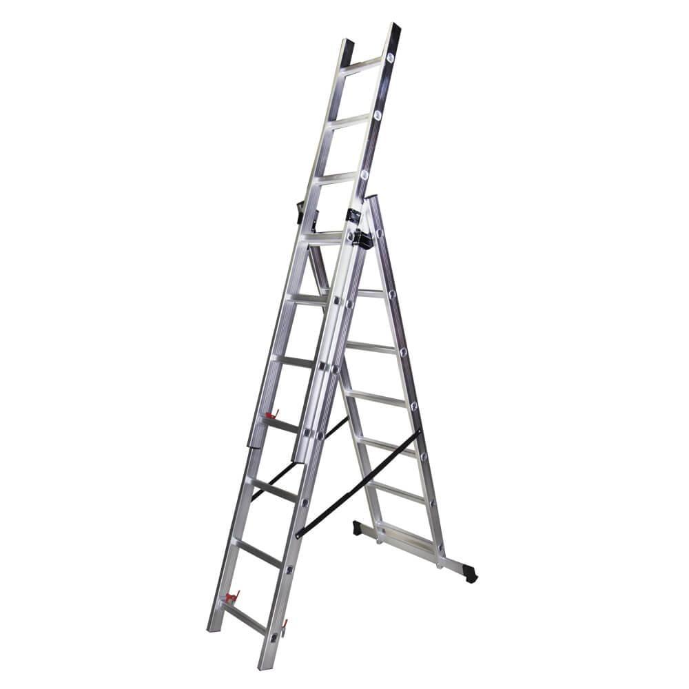 STR307 Scara tripla 7 trepte, 1,98 m aluminiu