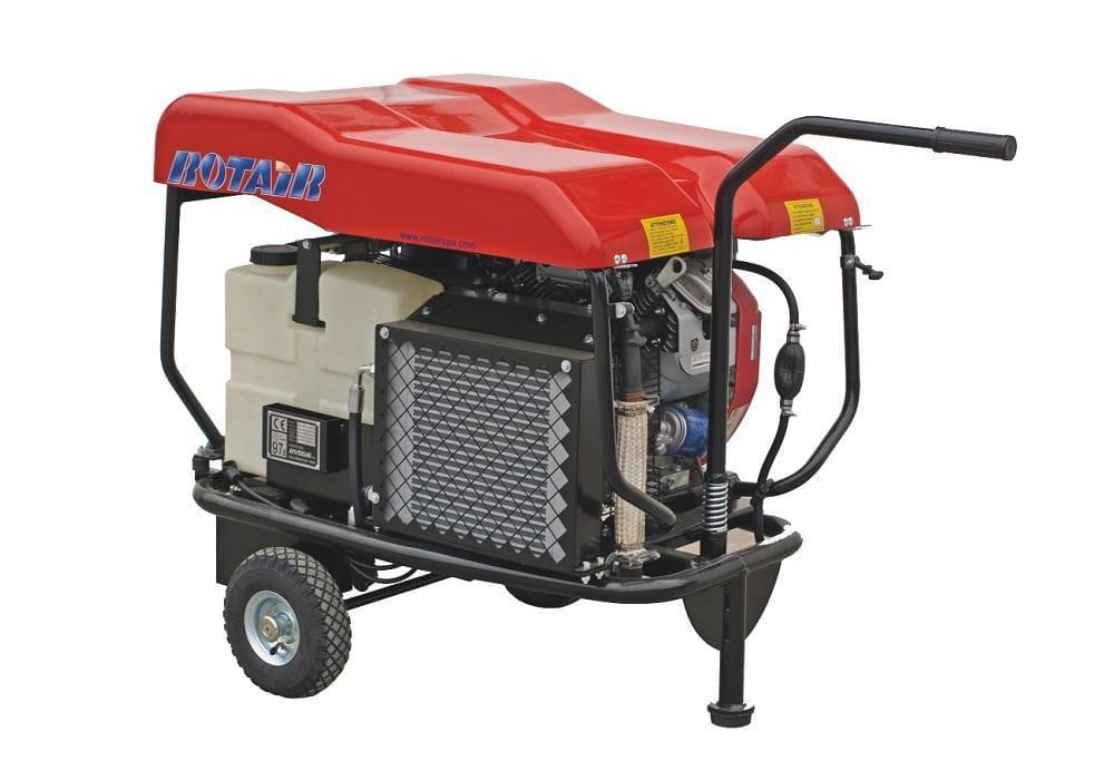VRK 120 AE*, debit 850 l/min., presiune de lucru 11 bar, motor B&S 16 cp