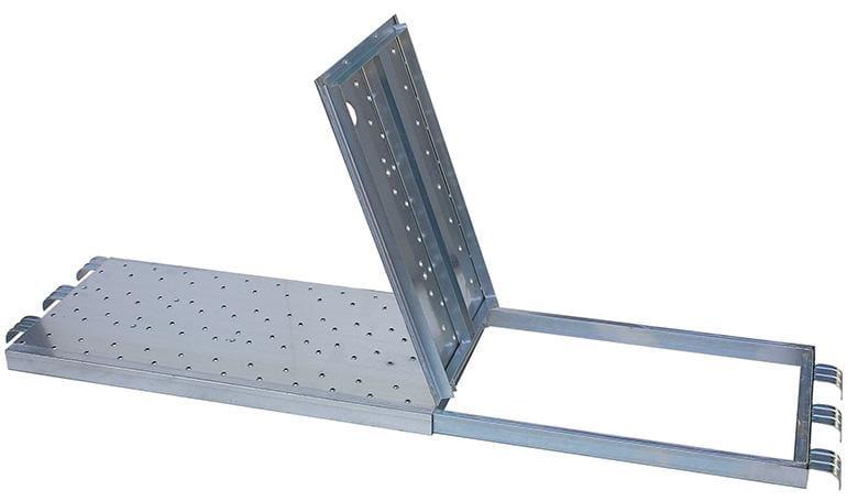 Оцинкованная платформа с люком 500 x 1800 мм