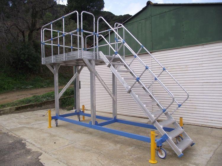 Platforma specială din aluminiu pentru întreținerea căilor ferate
