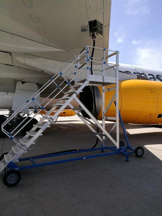 Platforma rabatabila din aluminiu pentru aeroporturi