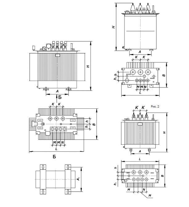 Transformator de tensiune ТМГ-400-6/0,4