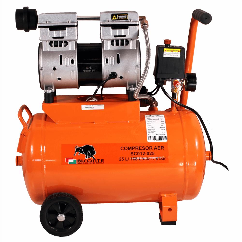 Compresor fara ulei BISONTE SC012-025