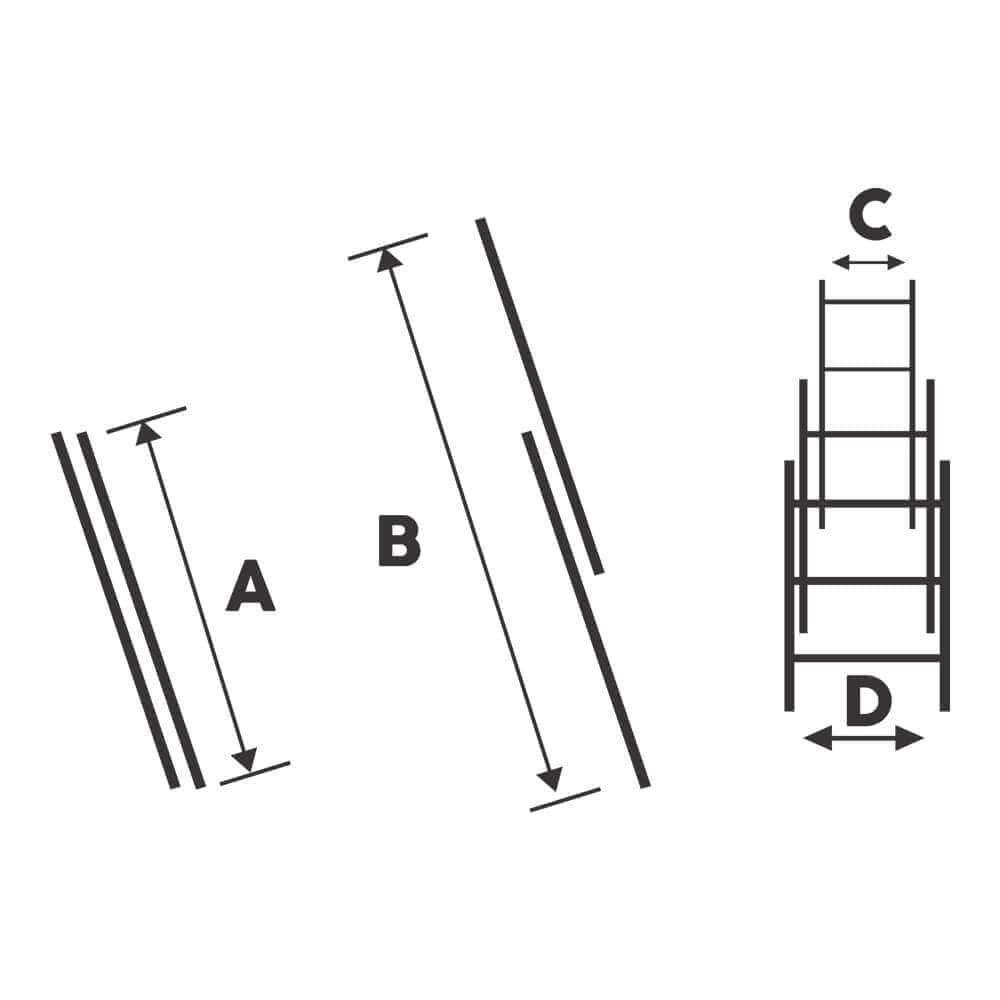 Scara dubla aluminiu 2x14 trepte
