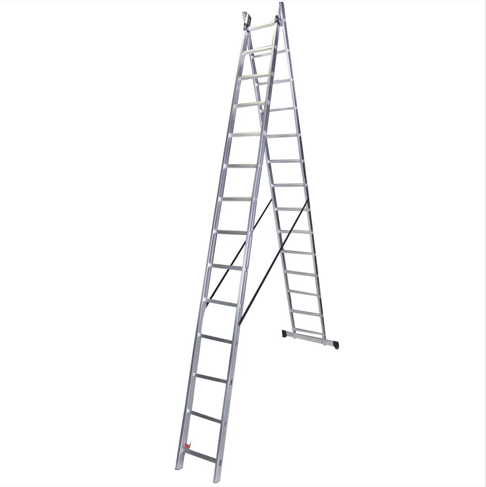Scara dubla aluminiu 2x17 trepte